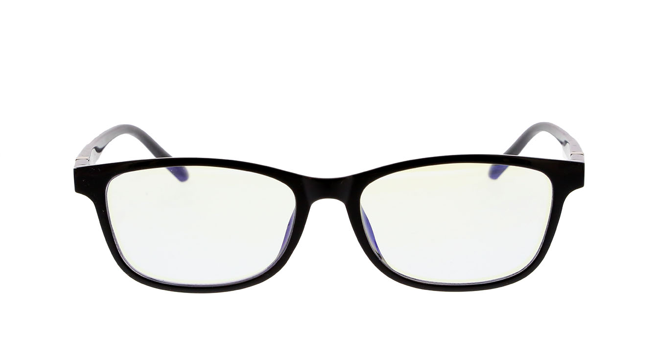 READING GLASSES S039 BLACK +1.00 BLUE LENSES