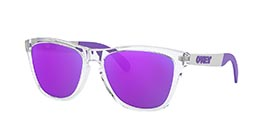 Kacamata OAKLEY FROGSKINS MIX (A) POLISHED CLEAR W/VIOLET IRID (OO9428F-02) s55