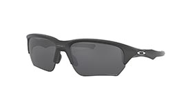 Kacamata OAKLEY FLAK BETA (A) STEEL W/ PRIZM BLACK POLARIZED (OO9372-08) s65