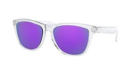 Kacamata OAKLEY FROGSKINS (A) POLISHED CLEAR W/ PRIZM VIOLET (OO9245-96) s54